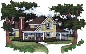 Farmhouse House Plan 65820 Elevation