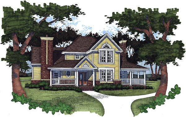 Farmhouse House Plan 65820 with 3 Beds, 2.5 Baths Elevation