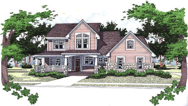Country House Plan 65823 with 3 Beds, 2.5 Baths, 2 Car Garage Elevation