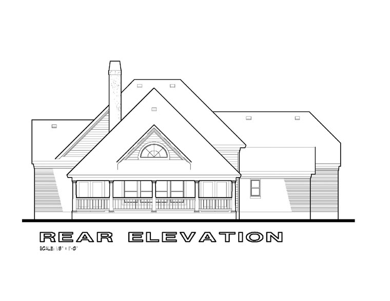 Traditional House Plan 65825 Rear Elevation
