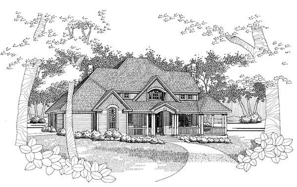 House Plan 65828 | Traditional Style Plan with 2129 Sq Ft, 3 Bedrooms, 2.5 Bathrooms, 2 Car Garage Elevation