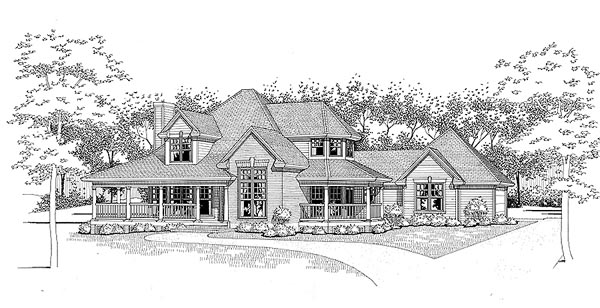 Traditional , Elevation of Plan 65830