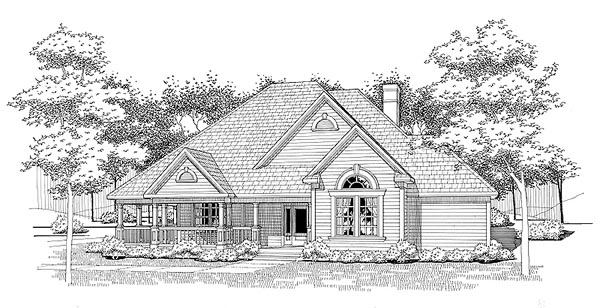 Traditional House Plan 65832 with 3 Beds, 2 Baths Front Elevation