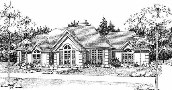Traditional , Elevation of Plan 65833