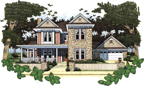 Country House Plan 65838 Elevation