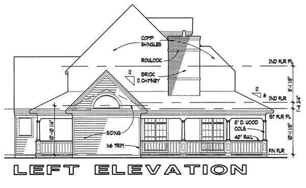Victorian House Plan 65839 with 3 Beds, 2.5 Baths Picture 1