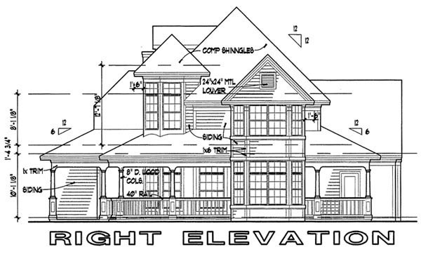 Victorian House Plan 65839 with 3 Beds, 2.5 Baths Picture 2