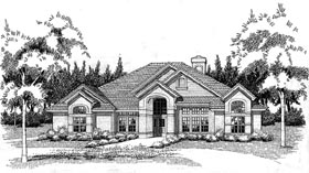 Traditional House Plan 65840 with 3 Beds, 2 Baths, 2 Car Garage Elevation
