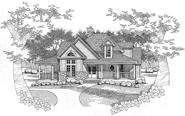 Country House Plan 65843 with 3 Beds, 2.5 Baths Elevation