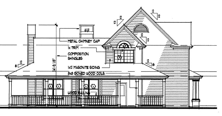 Country House Plan 65846 with 3 Beds, 2.5 Baths Picture 1