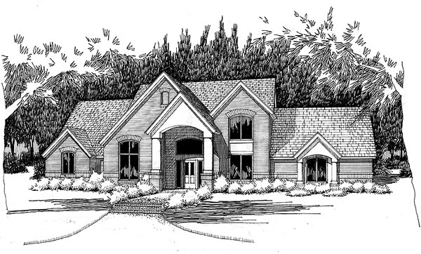 Traditional House Plan 65848 with 4 Beds, 3 Baths, 2 Car Garage Front Elevation