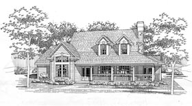 Southern House Plan 65849 with 3 Beds, 2.5 Baths Elevation