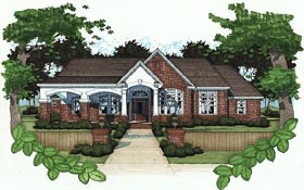 House Plan 65851 | Bungalow Style Plan with 2521 Sq Ft, 3 Bedrooms, 3 Bathrooms, 2 Car Garage Elevation