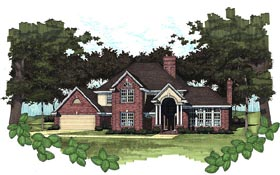 House Plan 65855 with 3 Beds, 2.5 Baths, 2 Car Garage Elevation