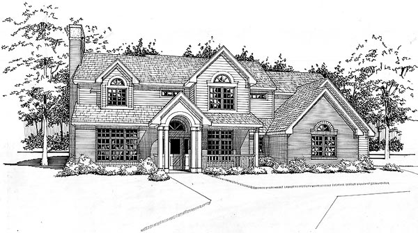 Colonial House Plan 65856 Elevation