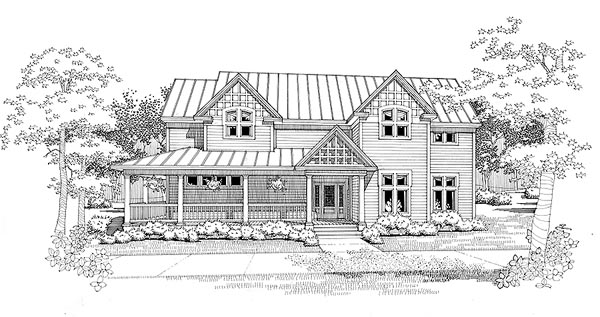 Country House Plan 65860 Elevation