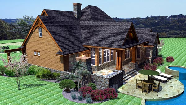 Cottage, Craftsman, Tuscan Plan with 2091 Sq. Ft., 3 Bedrooms, 3 Bathrooms, 2 Car Garage Picture 3