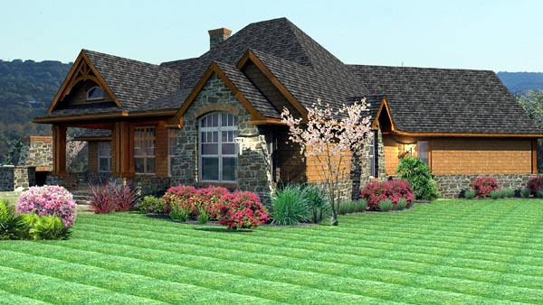 Cottage, Craftsman, Tuscan Plan with 2091 Sq. Ft., 3 Bedrooms, 3 Bathrooms, 2 Car Garage Picture 4