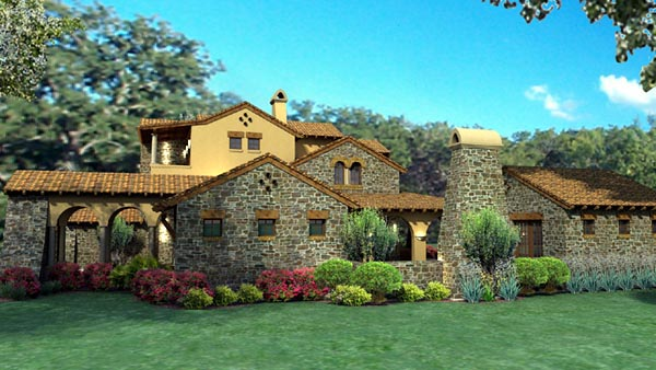 Mediterranean, Tuscan House Plan 65863 with 4 Beds, 4 Baths, 3 Car Garage Picture 3