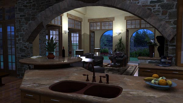 Mediterranean, Tuscan House Plan 65863 with 4 Beds, 4 Baths, 3 Car Garage Picture 9