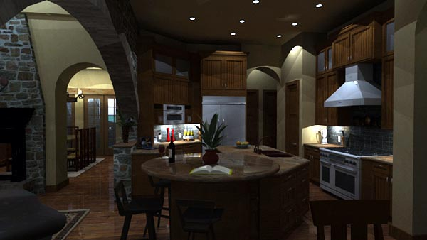 Mediterranean, Tuscan House Plan 65863 with 4 Beds, 4 Baths, 3 Car Garage Picture 6