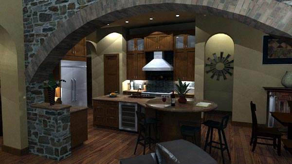 Mediterranean, Tuscan House Plan 65863 with 4 Beds, 4 Baths, 3 Car Garage Picture 10