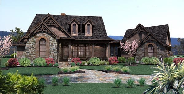 Cottage, Craftsman, Tuscan House Plan 65866 with 3 Beds, 3 Baths, 2 Car Garage Elevation