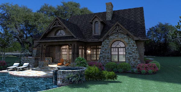 Cottage, Craftsman, Tuscan House Plan 65866 with 3 Beds, 3 Baths, 2 Car Garage Picture 5