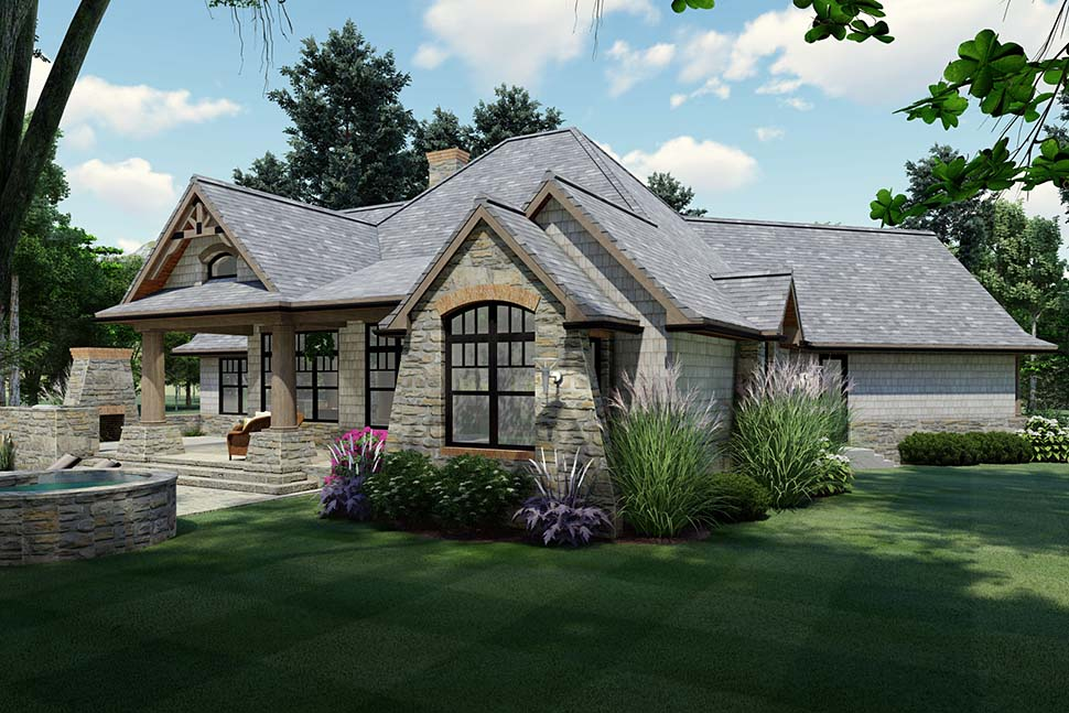Cottage, Craftsman, Ranch, Tuscan House Plan 65867 with 3 Beds, 2 Baths, 2 Car Garage Picture 1