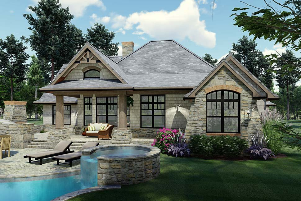Cottage, Craftsman, Ranch, Tuscan House Plan 65867 with 3 Beds, 2 Baths, 2 Car Garage Picture 5