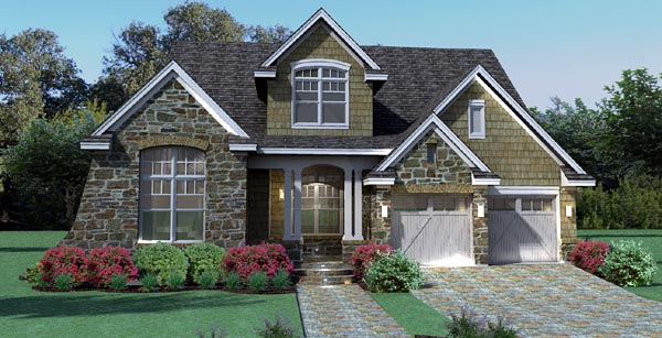 Cottage Craftsman Southern Traditional Tuscan House Plan 65868 Elevation