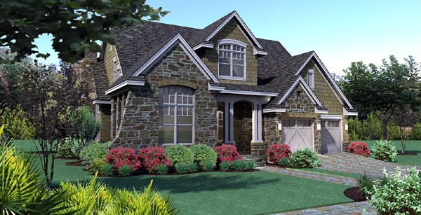 Plan 65868 Cottage Style House Plan With 3 Bed 3 Bath