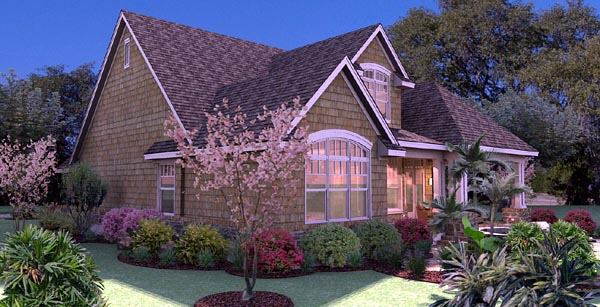 Cottage Craftsman Southern Traditional Tuscan House Plan 65868