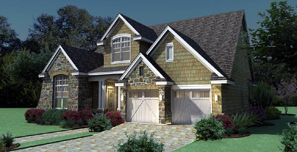 Cottage, Craftsman, Southern, Traditional, Tuscan House Plan 65868 with 3 Beds, 3 Baths, 2 Car Garage Picture 6