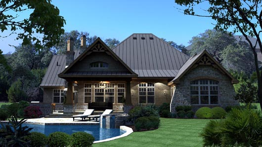 Cottage, Craftsman, Tuscan House Plan 65869 with 3 Beds, 3 Baths, 3 Car Garage Picture 5