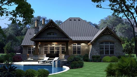 Cottage Craftsman Tuscan House Plan 65869
