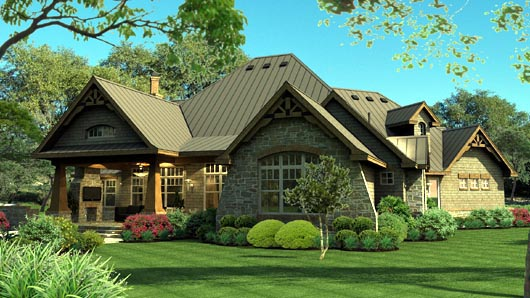 Cottage, Craftsman, Tuscan House Plan 65869 with 3 Beds, 3 Baths, 3 Car Garage Picture 6
