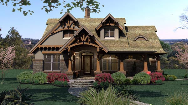 Plan 65870 Tuscan Style House Plan With 3 Bed 2 Bath
