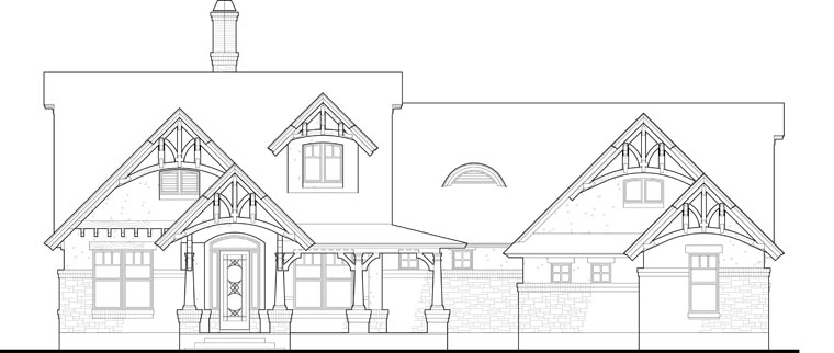 Bungalow, Cottage, Craftsman, Tuscan House Plan 65870 with 3 Beds, 2 Baths, 2 Car Garage Picture 12