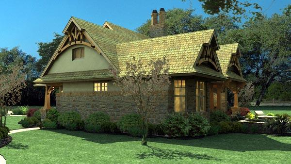 Bungalow Cottage Craftsman Tuscan House Plan 65870