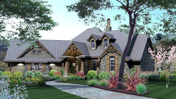 House Plan 65871 | Craftsman European Tuscan Style Plan with 2106 Sq Ft, 3 Bedrooms, 3 Bathrooms, 2 Car Garage