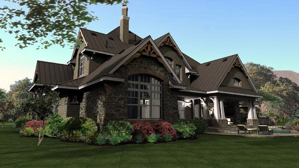 Cottage, Craftsman, European, Tuscan House Plan 65872 with 4 Beds, 4 Baths, 3 Car Garage Picture 17