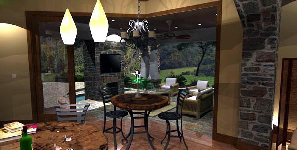Cottage Craftsman European Tuscan House Plan 65872