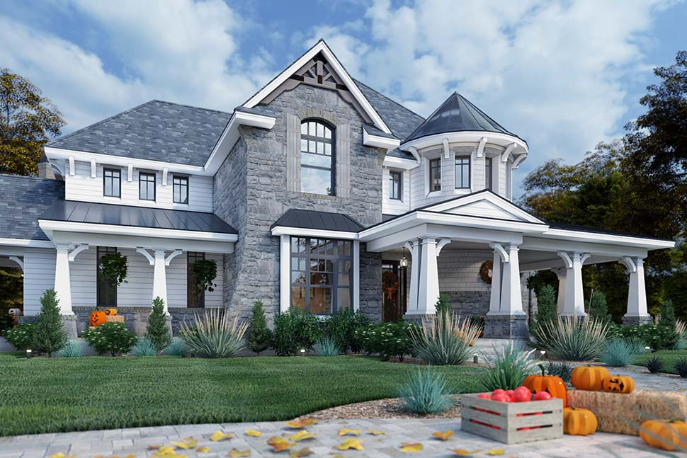 Cottage, Craftsman, European, Tuscan House Plan 65872 with 4 Beds, 4 Baths, 3 Car Garage Picture 4