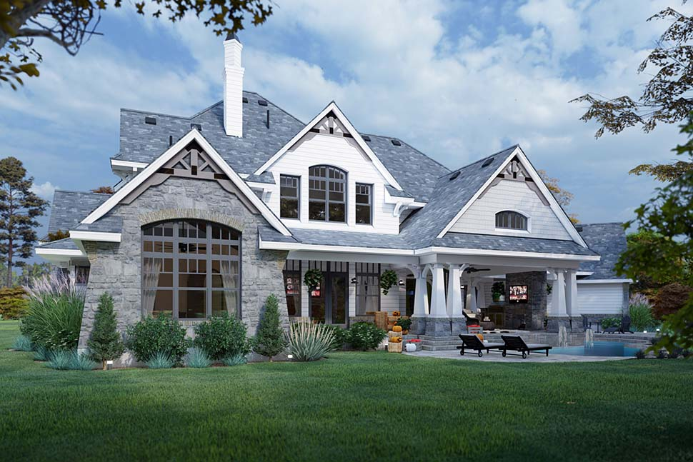Cottage, Craftsman, European, Tuscan House Plan 65872 with 4 Beds, 4 Baths, 3 Car Garage Picture 7