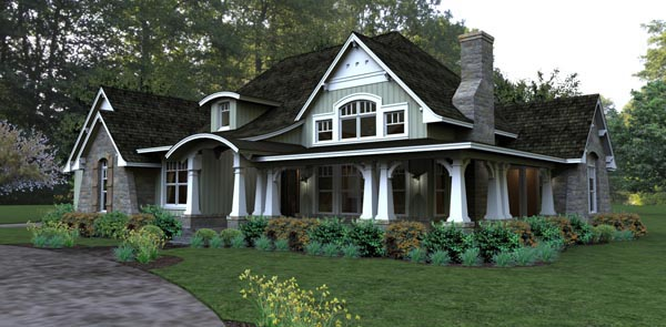 Plan 65875 Bungalow Style House Plan With 3 Bed 3 Bath