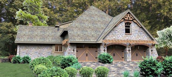 Craftsman Tuscan House Plan 65876