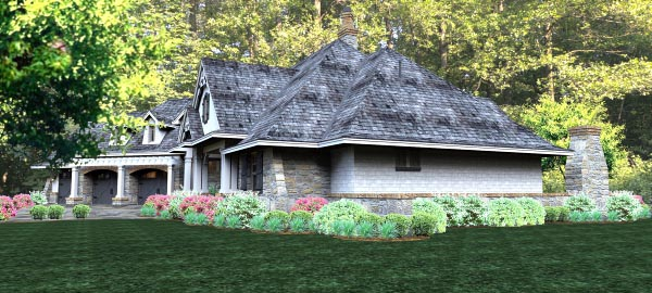 Cottage Country Craftsman Traditional Tuscan House Plan 65877