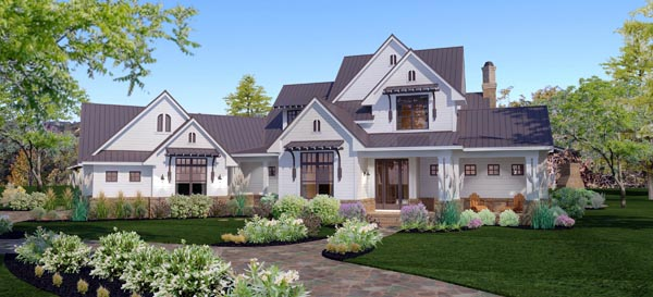 Country Farmhouse Traditional House Plan 65879 Elevation