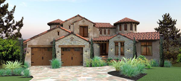 Italian mediterranean tuscan house plan 65881 for Italian country home plans